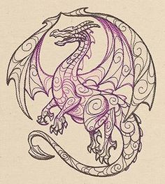 Dragons | Urban Threads: Unique and Awesome Embroidery Designs
