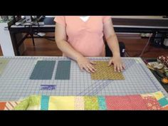 """Jelly roll and layer cake.  From Missouri Star.  The tutorial instructions are to cut a 10"""" piece and a 13"""" piece from jelly roll strips per each layer cake square.  The second piece should actually be 11 1/2"""" and 1/2"""" needs to be trimmed off the bottom of the block for it to be square.  At this point, it will make the block 11 1/2""""."""