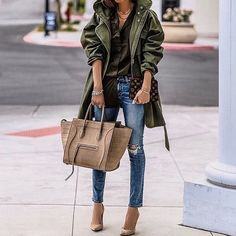 One of my favorite outfits of #2016.. jacket by @marissawebb BTW jeans are now 60% off!! Shop my look👉 http://liketk.it/2q040 @liketoknow.it #liketkit