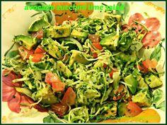Avacado zucchini lime salad