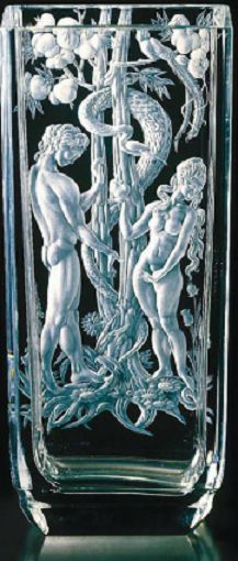 Erika Hellerová - Adam and Eve - Borské sklo 1979