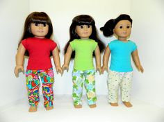 Pajamas for American Girl Dolls and other 18 Dolls by ItsSewSusan