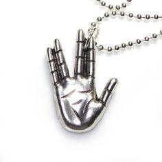 Star Trek Vulcan Hand sign necklace