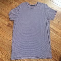 Brandy Melville Luana No pilling. Perfect condition. No trades. Burgundy and white striped. Brandy Melville Tops Tees - Short Sleeve