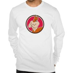 Pan Faun Satyr Circle Cartoon Shirts. Illustration of Pan, Faun or Satyr from the Greek mythology with human body, head and hindquarters of a goat with arms folded viewed from front set inside circle done in cartoon style. #Illustration of Pan, Faun or Satyr from the Greek mythology with human body, head and hindquarters of a goat with arms folded viewed from front set inside circle done in cartoon style. #Illustration #PanFaunSatyr