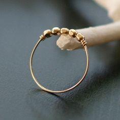 libra  minimalist gold ring by elephantine di elephantine su Etsy