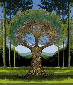 Celtic Tree Astrology ~ The Celtic Year is split into 13 Lunar months which mirrors the cycles of the moon, each are linked to a tree that is sacred to the Druids. Tree Of Life Art, Celtic Tree Of Life, Tree Art, Celtic Heart, Celtic Knot, Celtic Symbols, Magritte, Vincent Van Gogh, Oeuvre D'art