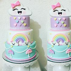Ideas Baby Shower Cake Belly Parties For 2019 Rainbow Birthday Party, Birthday Parties, Birthday Cake, Baby Cookies, Baby Shower Cookies, Babyshower Games For Girls, Cloud Party, Bolo Cake, Sprinkle Shower