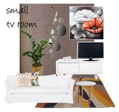 """""""TV room"""" by iszann on Polyvore featuring interior, interiors, interior design, home, home decor, interior decorating, Burke Decor, TemaHome and Dot & Bo"""
