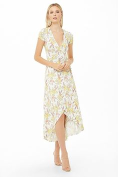b1a640adbfe Women s Floral Print Sleeveless Cinched Waist Midi Dress ...