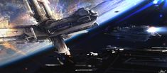 Concept spaceship art by Alejandro Olmedo.        Keywords: spaceships above earth like planet moon mother ship illustration design by alex ...