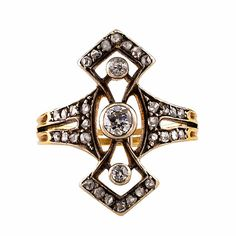 Vintage diamond and gold ring