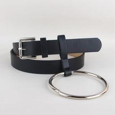 HEIßE Neueste Design Frauen taille gürtel Schöne frauen großen ring gürtel verziert weibliche mode gold dornschließe solide pu-leder strap