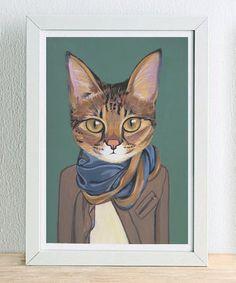 Fine Art Print - Savannah - Katzen In der Kleidung von Heather Mattoon gerahmt