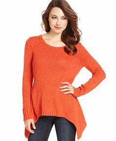 Kensie Sweater, Long-Sleeve Scoop-Neck