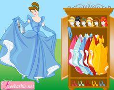 Barbie habillée en princesse Cendrillon