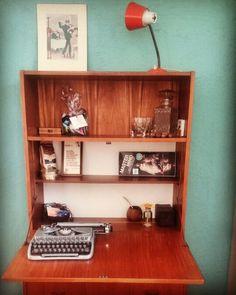 Cognac & typewriting corner.