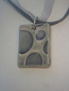 Ceramic Pendant - Ceramic Necklace - Ceramic Jewelry. $15.00, via Etsy.