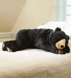 Bear Body Pillow. I think I need this. #LodgeDecor