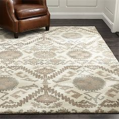 """Orissa Neutral Wool 12"""" sq. Rug Swatch 