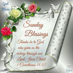 Sunday Blessings (1 Corinthians 15:57)