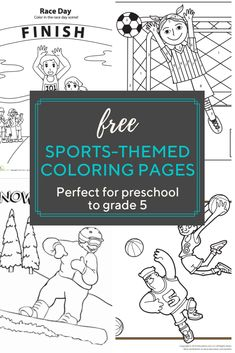 Sports coloring pages are perfect for your little athlete. No matter your child's favorite sport, there is a sports coloring page for him. Sports Coloring Pages, Cool Coloring Pages, Free Printable Coloring Pages, Coloring Pages For Kids, Free Printables, Sports Page, Kids Sports, July Calander, Kindergarten Activities