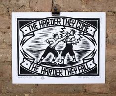 'The Harder They Come' the limited edition artwork by artist Chris Bourke. Available to buy online at Nelly Duff.