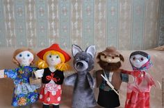 """Кукольный театр ручной работы. Ярмарка Мастеров - ручная работа. Купить Сказка """"Красная шапочка"""" Кукольный театр на руку. Handmade."""