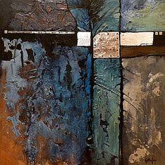"""CAROL NELSON FINE ART BLOG: """"CELEBRATION DE BLEU"""", résumé technique mixte © Carol Nelson Fine Art"""
