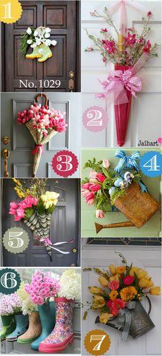 36 ideas decoración puerta diferentes que van más allá de la corona