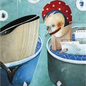 Illustration for 'The healthy school', publication by AT Consult - © illustrator Steven Van Hasten Bizarre Animals, Weird Creatures, Pinocchio, Children's Book Illustration, Childrens Books, Art For Kids, Whale, Van, Disney Characters