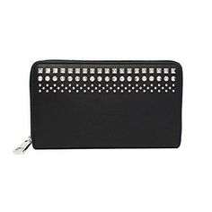 b1192d6425825 Gucci Leather Black Studded Zip Around Wallet 387456 1000