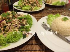 Larb is one of the iconic dishes of Laos and Isaan region of North Eastern Thailand. It is a warm salad of ground meat, with ground pork as the more common protein used, however chicken, beef, duck… Larb Salad, Quorn, Ground Meat, Laos, Spicy, Thailand, Protein, Veggies, Vegetarian