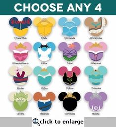 Mickey Heads: Princess Laser Die Cuts