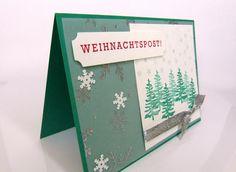 Smaragdgrüne Weihnachtskarte, Weihnachtspost, Stempelitis.de, Stampinup, Weihnachten