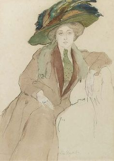Leo Gestel,  zittende elegante dame