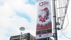 Civic banners: Outdoor advertising for The Design Corner Christmas Pops, Pop Up Shops, Case Study, Brand Identity, Banners, Advertising, Corner, Projects, Outdoor