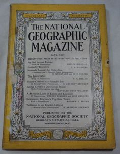 May 1937 National Geographic Magazine Butterflies Mexican Land Lakes Lacquers