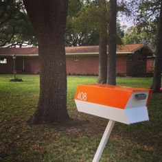"""We LOVE our Modbox Mailbox! It makes me smile every time I turn in the driveway."" Baytown, TX. modboxusa.com"