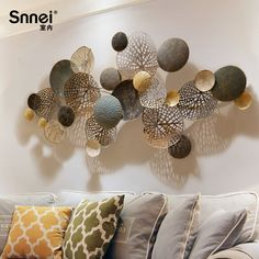 Nordic style wall hangings Creative wrought iron wall decoration solid wall decoration Living room background wall decoration pendant - - Buy China shop at Wholesale Price By Online English Taobao Agent Iron Wall Decor, Wall Art Decor, Dinning Room Wall Decor, Bedroom Decor, Wall Murals, Wall Hangings, Living Room Background, Art Background, Wall Ornaments