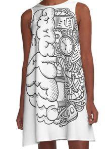 T-shirt Brain A-Line Dress