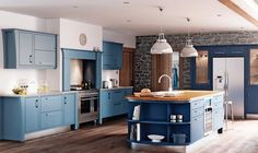 This kitchen from the John Lewis painted Kensington range is designed for both traditional and contemporary-style homes
