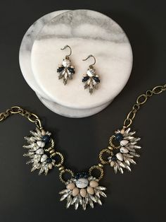 This necklace and earrings are perfect for the office or a night out! Shop online at https://www.chloeandisabel.com/boutique/nancynicol
