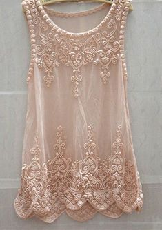 Chic Sweet Womem Full Lace Embroidery Floral Mesh Sleeveless Long Blouse Tank Tops Tops Gauze Shirt Mini Dress Pink