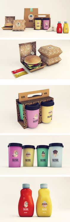 Illegal Burger packaging by Isabella Rodriguez. Who want's to join me for a burger celebrating National Cheeseburger Day PD