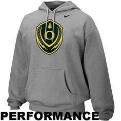 newest dd324 5471e Nike Oregon Ducks Icon Performance Hoodie - Ash