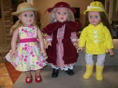 "Lot of 3 Madame Alexander 18"" Dolls #Doll"