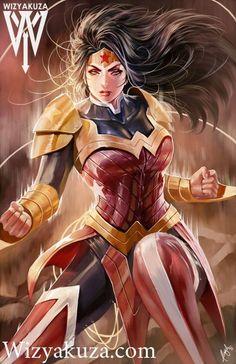 Wonder Woman Art by Muyuela (DC comics) Heros Comics, Dc Comics Art, Archie Comics, Comics Girls, Dc Heroes, Marvel Dc Comics, Marvel Vs, Wonder Woman Art, Wonder Woman Kunst