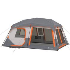 Instant 10 Person Cabin Tent Built In Lights Screen Porch Room Divider 2 Doors  sc 1 st  Pinterest & Ozark Trail 8-Person Family Cabin Tent with Screen Porch - Walmart ...