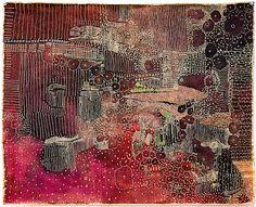 Appleton 48cm x 60cm, mixed media on linen, 2009 by Huguette Caland  http://www.huguettecaland.com/